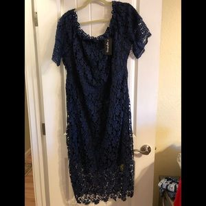 Simply Be Navy Lace size 20 dress NWT